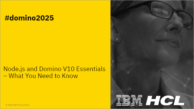Node.js and Domino V10 Essentials
