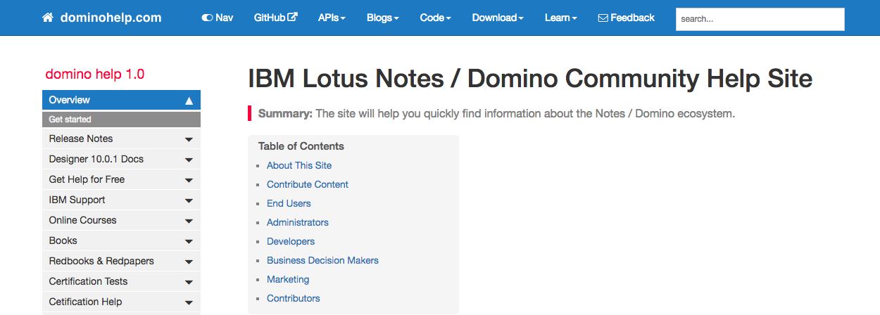 Domino Community Help Website is Here